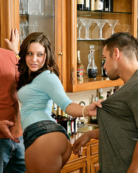 Gracie Glam decides she needs two cocks to satisfy her cravings.